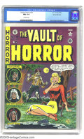 Golden Age (1938-1955):Horror, Vault of Horror #19 Gaines File pedigree 9/12 (EC, 1951) CGC NM+9.6 Off-white pages. Johnny Craig's cover is an homage to t...