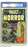 Golden Age (1938-1955):Horror, Vault of Horror #22 Gaines File pedigree 9/12 (EC, 1951) CGC NM 9.4White pages. Johnny Craig's Frankenstein cover and story...