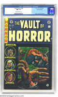 Golden Age (1938-1955):Horror, Vault of Horror #34 Gaines File pedigree 1/12 (EC, 1954) CGC NM+9.6 Off-white to white pages. A bizarre Johnny Craig cover ...
