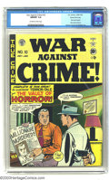 Golden Age (1938-1955):Crime, War Against Crime #10 Gaine File pedigree 1/11 (EC, 1949) CGC NM/MT 9.8 Off-white to white pages. If you're an EC horror fan...