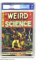 Golden Age (1938-1955):Science Fiction, Weird Science #10 Gaines File pedigree 9/11 (EC, 1951) CGC NM+ 9.6Off-white to white pages. An eye-popping Wally Wood cover...