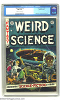 Golden Age (1938-1955):Science Fiction, Weird Science #16 Gaines File pedigree 9/11 (EC, 1952) CGC NM+ 9.6Off-white to white pages. Was this cover the inspiration ...