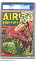 Golden Age (1938-1955):War, Air Fighters Comics V2#1 (Hillman Fall, 1943) CGC VG/FN 5.0 Creamto off-white pages. This great World War II-era Golden Age...