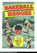Golden Age (1938-1955):Non-Fiction, Baseball Heroes nn (Fawcett, 1952) Condition: VG/FN. Take a peekinside the Baseball Hall of Fame in this interesting and in...