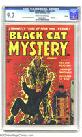 Golden Age (1938-1955):Horror, Black Cat Mystery #33 File Copy (Harvey, 1952) CGC NM- 9.2 Cream tooff-white pages. You're in for an electrifying good time...