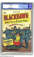 Golden Age (1938-1955):Adventure, Blackhawk #9 (Quality, 1944) CGC VF 8.0 Cream to off-white pages One of the great comics published during the 1940s, Blackha...