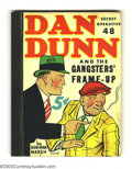 """Platinum Age (1897-1937):Miscellaneous, Dan Dunn Secretive Operative 48 """"Gangsters' Frame-Up"""" (WhitmanPublishing Co., 1937) Condition: FN/VF. Dan Dunn was the orig..."""