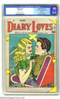 Golden Age (1938-1955):Romance, Diary Loves #2 Mile High pedigree (Quality, 1949) CGC NM 9.4Off-white to white pages. This is the first issue of this title...