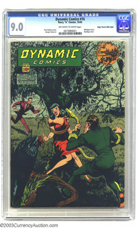 Dynamic Comics #16 Mile High pedigree (Chesler, 1945) CGC VF/NM 9.0 Off-white to white pages. Snake torture...headlights...