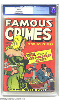 Famous Crimes #1 (Fox Features Syndicate, 1948) CGC NM 9.4 Cream to off-white pages. Fox books from this era are less li...