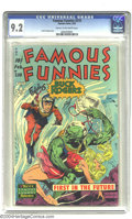 Golden Age (1938-1955):Science Fiction, Famous Funnies #210 (Eastern Color, 1954) CGC NM- 9.2 Cream tooff-white pages. The Frazetta run of Famous Funnies cover...