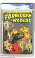 Golden Age (1938-1955):Science Fiction, Forbidden Worlds #2 Bethlehem pedigree (ACG, 1951) CGC VF/NM 9.0Off-white pages. The fire-beasts on this Ken Bald cover pac...