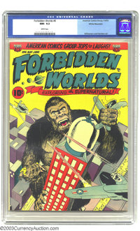 Forbidden Worlds #6 White Mountain pedigree (ACG, 1952) CGC NM- 9.2 White pages. No other copies of issue #6 currently c...