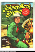 Golden Age (1938-1955):Western, Johnny Mack Brown #2 Hawkeye pedigree (Dell, 1950) Condition: VF+. Famous movie cowboy Johnny Mack Brown knew how to deal wi...