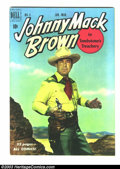 """Golden Age (1938-1955):Western, Johnny Mack Brown #3 Hawkeye pedigree (Dell, 1951) Condition: VF/NM. Johnny Mack Brown in """"Tombstone Treachery,"""" and """"The Pr..."""