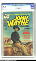 Golden Age (1938-1955):Western, John Wayne Adventure Comics #1 (Toby Publishing, 1949) CGC FN- 5.5 Off-white to white pages. This fine John Wayne collectibl...