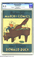 Golden Age (1938-1955):Funny Animal, March of Comics #41 (K. K. Publications, Inc., 1949) CGC VF+ 8.5Off-white to white pages. Of the many Donald Duck comic boo...