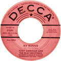 "Music Memorabilia:Recordings, Tony Sheridan and The Beat Brothers ""My Bonnie""/""The Saints"" Promo45 (Decca 31382, 1962). The Fab Four in the beginning! Th..."