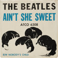"Music Memorabilia:Recordings, Beatles Promo 45 and More Group of 2 (Atco 6308, 1964). Two copiesof ""Ain't She Sweet""/ ""Nobody's Child"" (Atco 6308, 1964)... (Total:2 Items)"