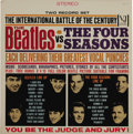 "Music Memorabilia:Recordings, ""The Beatles Vs The Four Seasons"" Stereo LP (Vee-Jay 30, 1964).Vee-Jay had lost the Fab Four to Capitol, but the label cont..."