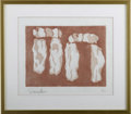 Prints:American, PAIR OF CONTEMPORARY PRINTS. Donna Hayen. Abstraction. Lithographon Japan paper 6/15. Signed to lower left. Matted, frame... (Total:2 )