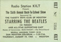 Music Memorabilia:Tickets, Beatles Sam Houston Coliseum Concert Ticket Stub. Beatlemania wasrunning high during these two shows in Houston on August 1...