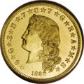 Proof Four Dollar Gold Pieces: , 1880 $4 Flowing Hair, Judd-1657, Pollock-1857, R.6, PR65 NGC. The four dollar gold piece, also known as the stella, was an ...