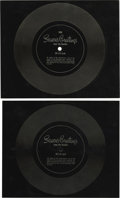"""Music Memorabilia:Recordings, Beatles Flexi Postcards Group of 2 (US, 1966-1967). Two superb copies of the boys' annual """"Season's Greeting"""" flexi-disc, th... (Total: 2 )"""