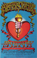 "Music Memorabilia:Posters, Big Brother and the Holding Company/Santana ""Heart/Torch"" FillmoreWest Concert Poster, BG-136 (Bill Graham, 1968). When it ..."