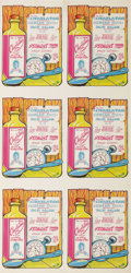 "Music Memorabilia:Posters, Charlatans Concert Handbill, Uncut Sheet of Six (Straight Theater,1968). Cool ""tonic bottle"" graphics make up this attracti..."
