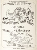 Music Memorabilia:Posters, Crosby Stills Nash and Young Oakland Stadium Concert Poster (BillGraham/KFRC, 1974). One of the most popular concert attrac...