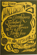 Music Memorabilia:Posters, Grass Roots/Quicksilver Messenger Service Fillmore Concert Poster,BG-0 (Bill Graham, 1966). This unnumbered poster was orig...