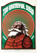 "Music Memorabilia:Posters, Grateful Dead ""Hippie Santa Claus"" Avalon Ballroom Concert Poster, FD-40 (Family Dog, 1966). Here's a great, single-printing..."
