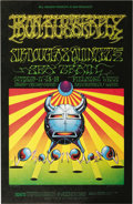 Music Memorabilia:Posters, Iron Butterfly/Sir Douglas Quintet Fillmore West Auditorium ConcertPoster, BG-141 (Bill Graham, 1968). Zap Comix buddie...(Total: 1 Item)