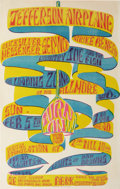 "Music Memorabilia:Posters, Jefferson Airplane ""Strike Benefit"" Fillmore Concert Poster (1967).Reaction to the Vietnam War on collage campuses resulted..."