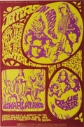 Music Memorabilia:Posters, Jefferson Airplane/Charlatans/Blue Cheer Haight-Ashbury Free ClinicBenefit Concert Poster, BG-88 (Bill Graham, 1967). The g...