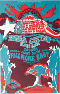 "Music Memorabilia:Posters, Mothers of Invention Fillmore East Concert Poster (Bill Graham,1968) ""Last N. Y. Appearance 'Til Peace"" was the ""threat"" ma..."