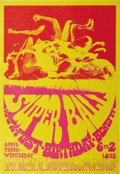 "Music Memorabilia:Posters, Super Ball KMPX First Birthday Benefit Poster (KMPX, 1968). Getready for a little ""bump 'n' grind"" with this wild poster, a..."