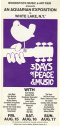 Music Memorabilia:Posters, Woodstock Festival Original Flyer (1969) Did you know that theinfamous Woodstock Music & Art Fair really had more thanjust...