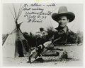 "Movie/TV Memorabilia:Autographs and Signed Items, Yakima Canutt Signed Photo. A b&w 8"" x 10"" photo inscribed andsigned by the legendary stunt man in black ink. In Excellent ..."