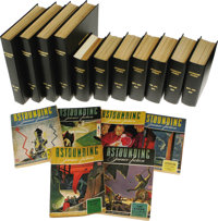 Bound Complete 1942-1945 Astounding Science-Fiction Pulp Magazines. (New York: Street & Smith Publications, Inc., 19...
