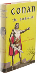 Books:First Editions, Robert E. Howard: Conan the Barbarian. (New York: GnomePress, 1954), first edition, 224 pages, red cloth with black let...