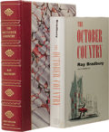 """Books:First Editions, Ray Bradbury: The October Country. (New York: Ballantine,1955), first edition, first state (""""BB"""" monogram on spine of b..."""