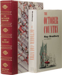 """Ray Bradbury: The October Country. (New York: Ballantine, 1955), first edition, first state (""""BB"""" monogram on..."""