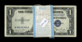 Small Size:Silver Certificates, Fr. 1613N/W $1 1935D Silver Certificates. Original Pack of 100 with Changeover Pairs. Choice Crisp Uncirculated.. This crack... (Total: 100 notes)