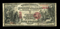 National Bank Notes:Colorado, Pueblo, CO - $5 1875 Fr. 408a The Western NB Ch. # 2546. A titlechange on this First Charter example has produced both ...