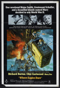 "Movie Posters:War, Where Eagles Dare (MGM, 1968). One Sheet (27"" X 41""). War...."