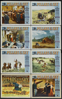 "Pillars of the Sky (Universal, 1956). Lobby Card Set of 8 (11"" X 14""). Western. Starring Jeff Chandler, Doroth..."