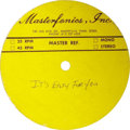 "Music Memorabilia:Recordings, Elvis Presley ""It's Easy For You"" Acetate (Masterfonics, 1977). The song was included on the ""Moody Blue"" LP. This particula..."