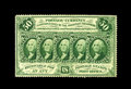 Fractional Currency:First Issue, Fr. 1311 50c First Issue Choice New. Great front to back centeringis noted on this original First Issue note. A tiny tip fo...
